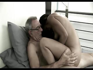 Grandpa With Teeny Piglet Ana