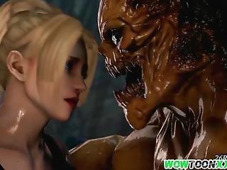 Big Dick Alien Fucking Hot Busty 3d Babe