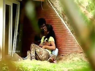 Outdoor Indian Lover Boobs Press Aen Fuck In Public Park