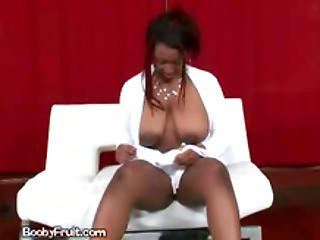 Big Titted Ebony Lady Sucks Dong