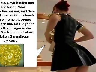 Die Latex Maid Luder # Scheiss Kleidtr�ger I Scheiss Transvestitenschwein