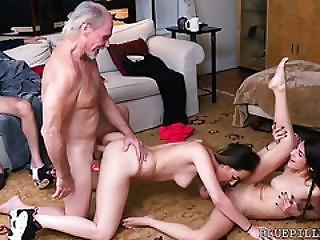Harter Porno, Alt, älterer Mann, Jugendliche, Dreier, Jung
