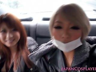 Cosplay Catsuit Japaneses In Public Reverse Gang Bang
