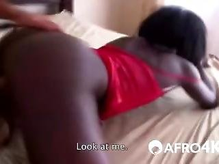 African Babe Fucked Hard After Masturbating With A Dildo In Pov