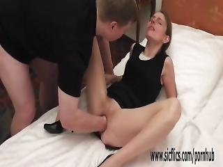 Large Brute Fisting Skinny Teens Ruined Pussy