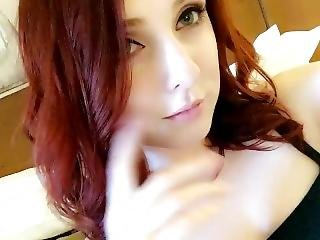 Sexy Readhead Finger Fucks Mouth! For More Nudes/videos Kik Me @crystoarl