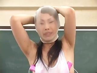 Pantyhose Face Encasement Humiliated