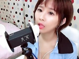 Asmr - Cute Asian Girl Ear Licking Sounds [2]