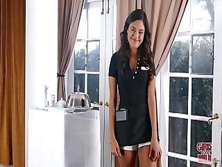 Girls Gone Wild - Young Room Service Waitress Jordan Garza Has Lesbian Sex With Skylar Welch