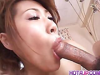Aya Sakurai Gets A Big Dick To Crack Her Creamy Bush