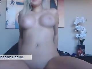 Pussy Fuck With Dildo. Big Tits Perfect Body Blonde Teen