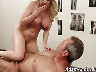 Busty Blonde Cum Covered