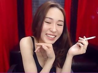 Cute Asian Smoking
