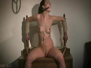 bambola, bsdm, bondage, mora, dominazione, cella, fetish, perversa, all'insù, sesso, calze, Adolescente, legata, vibratore
