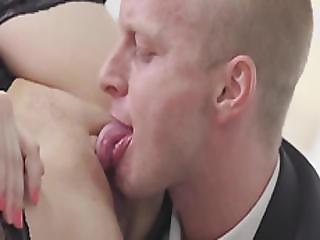 Antonia Sainzs Boss Loves The Taste Of Her Pussy