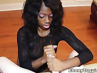 Amateur, Black, Cfnm, Ebony, Handjob, Jerking, Pov, Reality, Tattoo, Tugjob, White