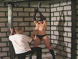Blindfolded Chick With Hot Natural Tits Gets Tied And Spanked