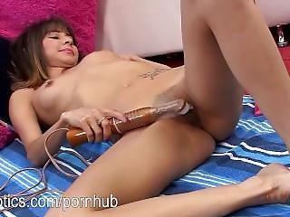 Katie Murphy Pumping A Big Toy In Her Vag