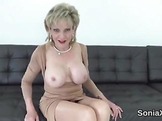 Unfaithful British Mature Gill Ellis Flaunts Her Massive Breasts