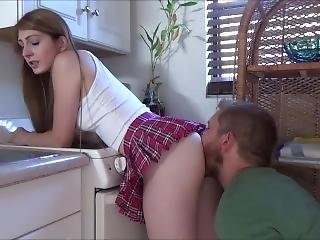 Teen Redhead Fucks Step Brother After School - Nina Skye - Family Therapy