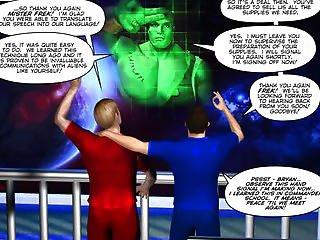First Alien Contact 3d Gay Cartoon Comic Anime Story