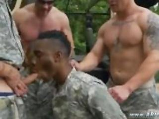 Naked military gay men having sex R&R, the