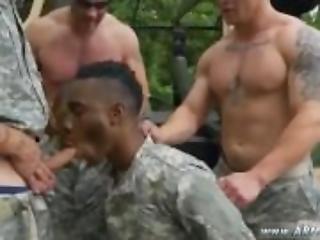 Naked military gay men having sex R&R, the
