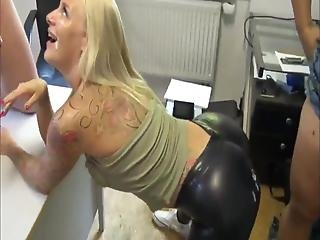 Naughty Milf In Latex Used By Her Neighbor And Roommate