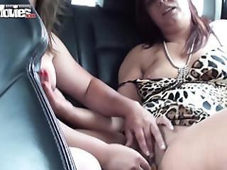 Lesbians On The Backseat