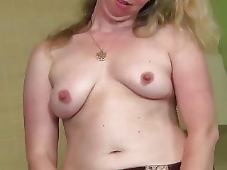 Mature Woman Fingers Her Tasty Pussy