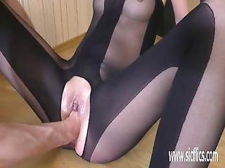 Brutally Fisting Her Teen Pussy Till She Squirts