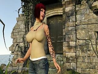 Busty Milf Visits An Abandoned Island In Search For Adventures And Finds Much More Than She Could Expects!