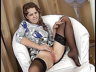 Teen In Black Stockings