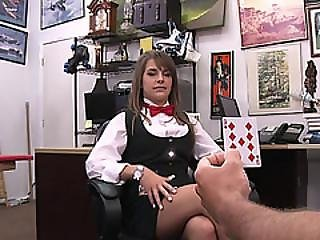Lovely Poker House Dealer Gets Fucked Hardcore
