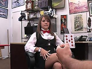 Lovely Poker House Dealer Gets Fucked Hardcore