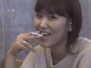 Korean Girl Smoking