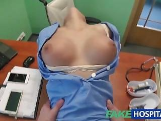 Fakehospital Doctor Prank Calls His Sexy Nurse With Big Tits Then Fucks Her