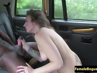 Female Cabbie Drools On Bbc In Her Taxi And Loves It