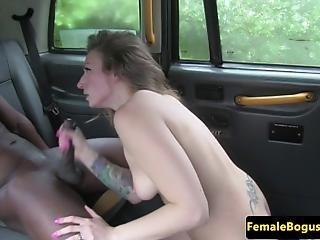 pipe, brunette, sperme, éjaculation, bave, nique, hardcore, interracial, oral, sexe, taxi