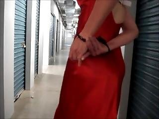 Hand Cuffed In In My Red Dress