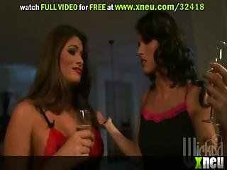 Vixen Lesbians Wear Sexy Lingerie As They Play With Sex Toys