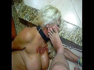 bondage, obroża, stopy, stopa, dojrzała, prostytutka, dziwka