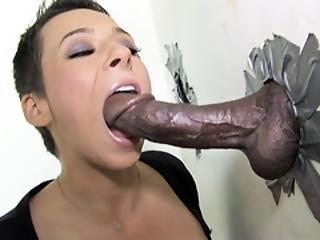 Ariel Alexis Deepthroats Black Dick - Gloryhole