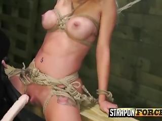 Lesbian Babes Enjoying Strapon