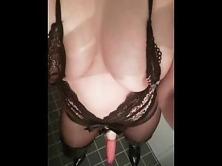 amatoriale, sesso, da sola, strapon