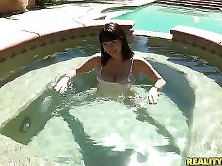 New Girl Has A Super Big Natural Knockers On A Chest!