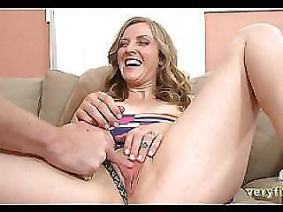 Sexy Blonde Gets Her First Dick On Camera