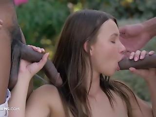 Taylor Sands - 2 Joysticks Please - Hot Interracial 3some