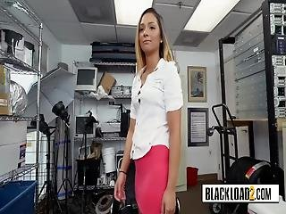 Pink Topped Hottie Is Placed In Doggystyle And Banged By Horny Director