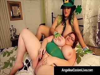 Hot Bbws Angelina Castro Sam 38g Trinity G Dildo Fuck